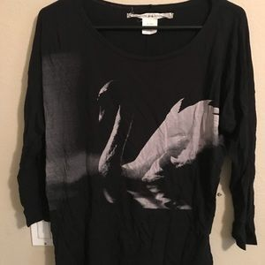 Woman's swan long sleeve shirt